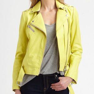 Mackage Yellow Leather Jacket